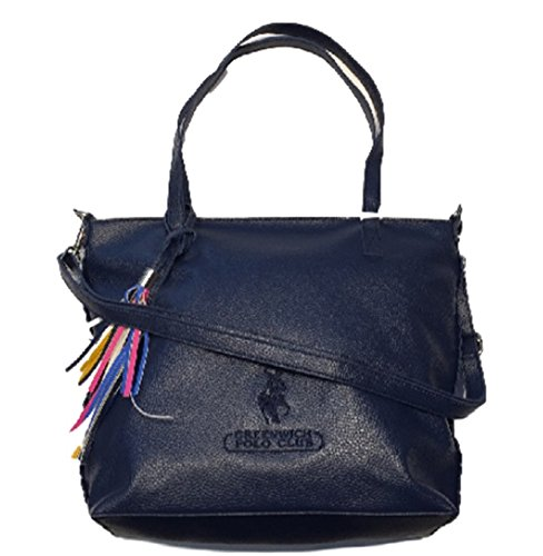 Borsa Donna Ecopelle Colore Blu A Spalla Polo Greenwich Club
