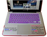 iPearl High Grade Silicone Keyboard Skin Cover for MacBook / Pro / Air in Retail Packaging - PURPLE