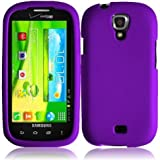 Purple Hard Case Snap On Rubberized Cover For Samsung Galaxy Stratosphere 2 i415