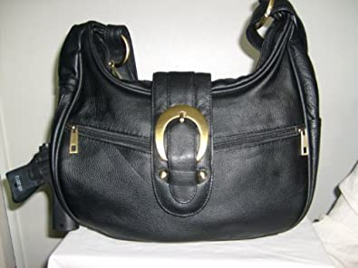 Concealed Carry Women's Handbag Locking Gun Bag Purse Genuine Leather / Black
