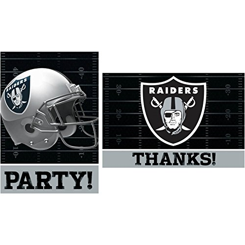 nfl invitation and thank you card set - oakland raiders - 1