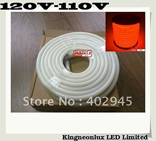 10M Per Reel Led Neon Flex Orange Led Soft Neon Light Led Flexible Neon Strip Led Neon Rope Lights 120V 110V 80Pcs/M