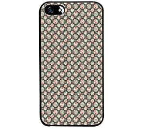 Fuson Premium Floral Circles Metal Printed with Hard Plastic Back Case Cover for Apple iPhone SE