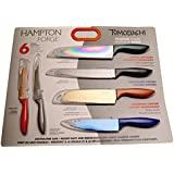 Tomodachi Hampton Forge Titanium Coated 12 pc. Knife Set (with blade guards)