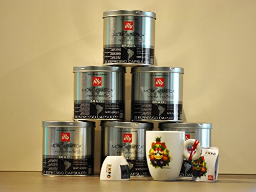 Shop for Illy Coffee Iperespresso Brazil - Set 6 cans of 21 capsules each - Illy
