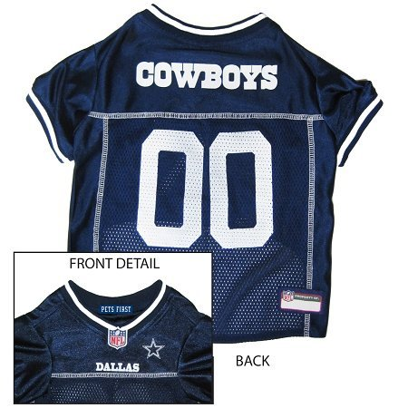 Pets First Official NFL Dallas Cowboys Jersey Small