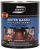 Deft Interior Exterior Water-Based Polyurethane Finish Gloss, Quart