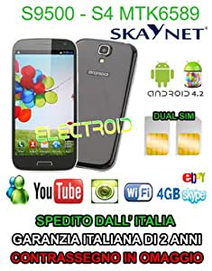 CELLULARE S9500 DUAL SIM 3G UMTS ANDROID 4.2 GPS MTK 6589 RAM 1GB QUAD CORE S4 - BLU NOTTE o BIANCO