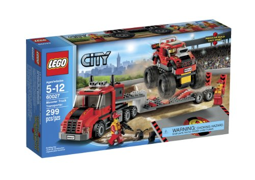 LEGO 60027 Monster Truck Transporter (Lego Trucks With Trailer compare prices)