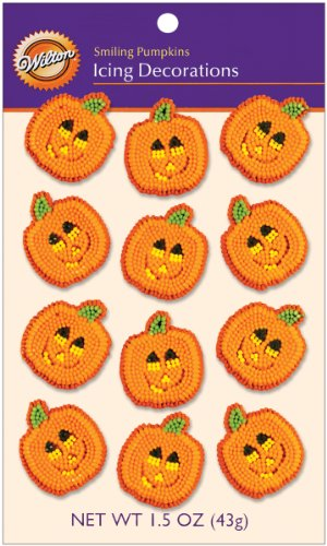Wilton Smiling Pumpkins Icing Decorations