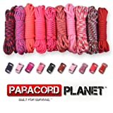Paracord Planet 550lb Type III Paracord Combo Crafting Kits with Buckles (REDDY)