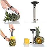 Silver Stainless Steel Pineapple De-Corer Peeler Stem Remover Blades for Diced Fruit Rings by Super Z Outlet
