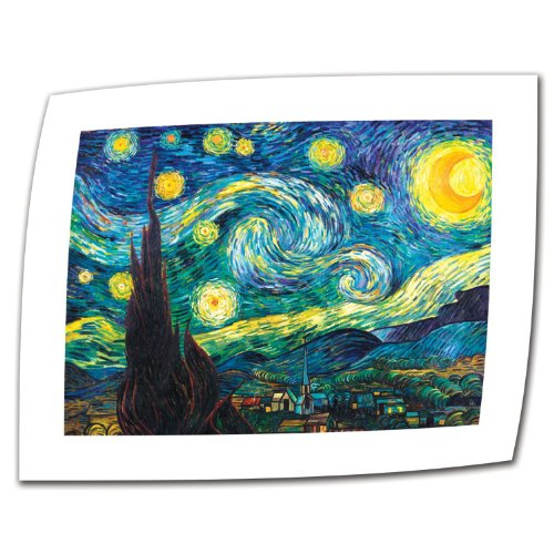 Art Wall Starry Night by Vincent Van Gogh Rolled Canvas Art, 14 by 18-Inch