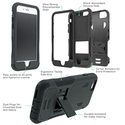 NakedShield LG G3 Case Hunter Camouflage Armor Tough ShockProof Phone KickStand Case
