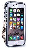 """iPhone6sケース、iPhone6ケースカバー、【RZS】[スクラッチ保護] [ドロップ保護] [耐震] メカニカルアームシェイプ保護金属シェル[ネックストラップ付き] 航空宇宙アルミニウムアイフォン6/6s 4.7""""用 耐衝撃カバー (iPhone 6/6s 4.7"""", グレー)"""