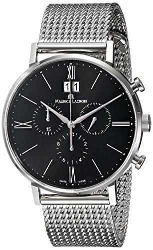 Maurice Lacroix Eliros Reloj de hombre Chon ograph Acero Inoxidable analógico de cuarzo EL1088de SS002-310-1