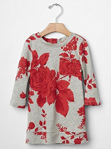 Gap Baby Rose Sweatshirt Dress Size 12-18 M front-875635
