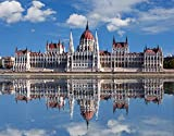Reflection Of Hungarian Parliament In Water Budapest Hungary Europe Art Poster 15