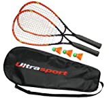 Ultrasport Fastball-Set Turbo-Badminton - Multifile Saite mit stabiler Faserstruktur