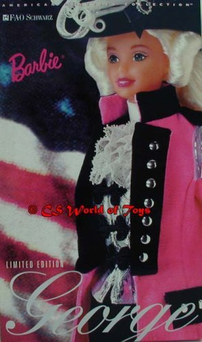 Mattel 1996 George Washington Barbie FAO Schwarz Limited Edition