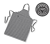 Pizza Express 100% Cotton Adults Apron - Black & White