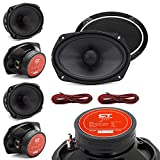 CT Sounds Meso 6x9 Inch 2 Way Silk Dome Full Range Coax Coaxial Speakers (Pair)