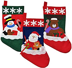 Buy christmas stockings for kids set of 3 family - Buy christmas decorations online india ...