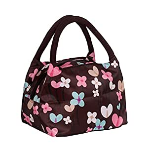 sugawin women light portable insulation print pattern lunch bag lunch tote bag with. Black Bedroom Furniture Sets. Home Design Ideas