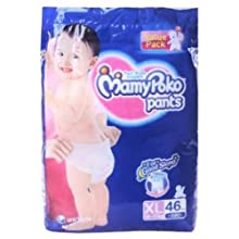 Mamy Poko Pant Style Extra Large Size Diapers (46 Count)