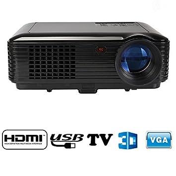 Flylinktech 3D TV HD 2*USB 2*HDMI SV-228 Vidéoprojecteur Multimédia Projecteur Vidéo Home Cinéma 1280*800 Résolution 2800 Lumens Contraste 2000:1 Avec Interface Entrée 2 USB/ 2 HDMI/ YPrPb/ TV/ VGA/ Audio Earphone