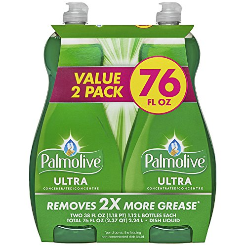 Palmolive Ultra Original Dish Liquid, Twin Pack, 38 Fl Oz (Hypoallergenic Dishwashing Liquid compare prices)