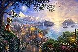 Thomas Kinkade Art Prints Disney Oil Paintings Prints on Canvas Pinocchio Wishes Upon a Star