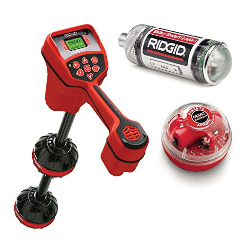 Ridgid 19238 NaviTrack Scout Locator Bundle w/ 16728 Remote Transmitter and 19793 Float Sondes w/batteries (3 Pieces) (Septic Locator compare prices)
