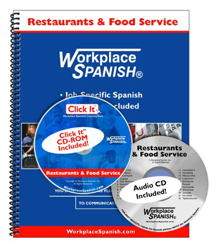 Spanish for Restaurants and Food Service Learning Kit w audio CD and Click It CD ROM by Workplace Spanish R