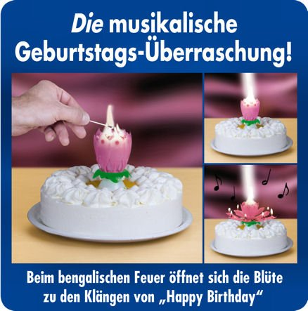 Weco Geburtstagsfontäne 'Happy Birthday'