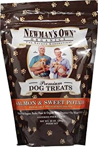 Newman's Own Organics Premium Dog Treats Salmon and Sweet Potato -- 10 oz