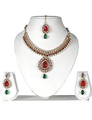 Bhavika Exim's Multicolored Metal Necklace Set For Women - B01KX93BZI