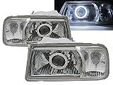 CrazyTheGod Grand Vitara Escudo 1988-2000 CCFL HID Dual Beam Projector Headlight Headlamp V1 CHROME for SUZUKI