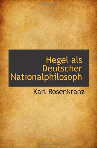 Hegel als Deutscher Nationalphilosoph