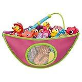 Highdas Kid 's Extra Grande Plegable Bolsa de almacenamiento de juguete perfecto como playa Tote Bolsa de malla C-Pink