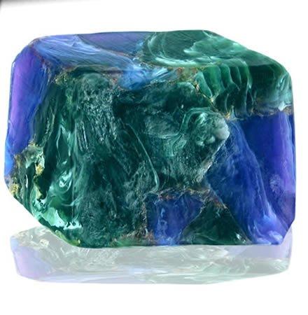 【Savons gemme(サボンジェム)】ジェムソープ スピリチュアル170g マラカイトアジュライト 宝石石鹸