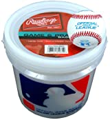 Rawlings WALCROLB6PK Practice Baseballs 6 Pack With Bucket