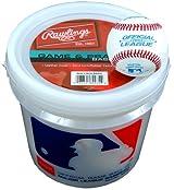 Rawlings WALCROLB6PK Practice Baseballs 6 Pack With Bucket