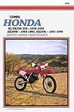 Honda: Xl/Xr 250-350 . 1978-1995 Xr200R . 1984-1985, Xr250L . 1991-1996