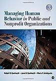 Managing Human Behavior in Public and Nonprofit Organizations
