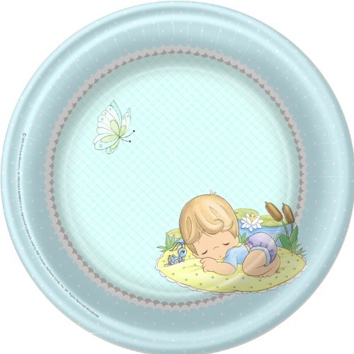 "Precious Moments Boy 9"" Lunch/Dinner Plates (8ct) - 1"
