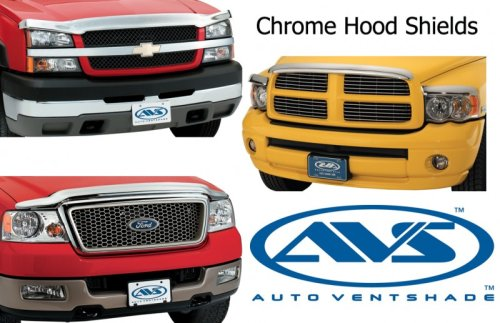 Auto Ventshade 680124 Chrome Hood Shield