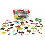 Set Of 36 Large & MD Size Insect Ocean & Birds Animals In Storage Bucket