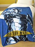 DOCTOR DR WHO CYBERMAN FLEECE BLANKET THROW