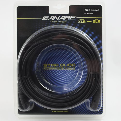 Canare Mc50F L-4E6S Star Quad Xlr Microphone Cable (50 Feet)